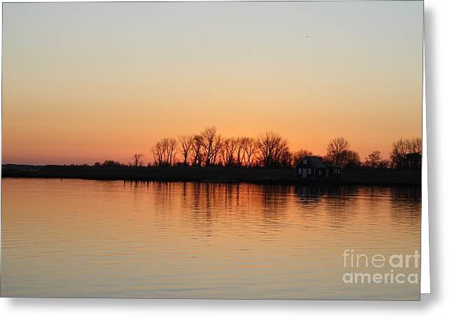 Reflections Of Sky In Water Greeting Cards - Winter Sky Over Oceanside NY Greeting Card by John Telfer