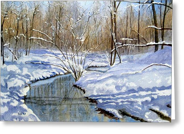 Lake Wylie Greeting Cards - Winter Snow 1 Greeting Card by Julia Rietz