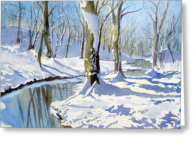 Lake Wylie Greeting Cards - Winter Snow 2 Greeting Card by Julia Rietz