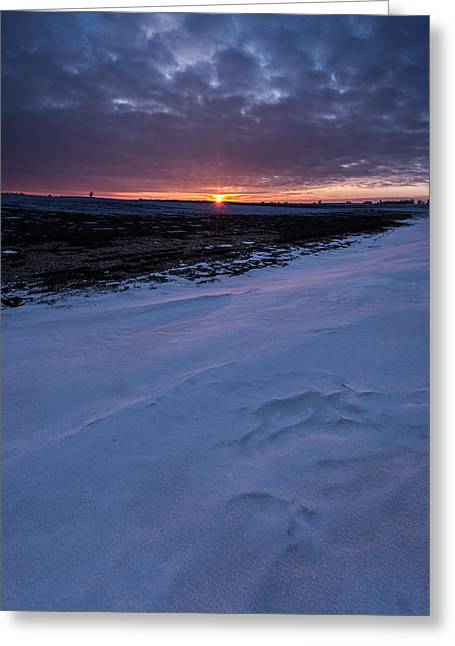 Snow Drifts Greeting Cards - Winter Solstice  Greeting Card by Aaron J Groen