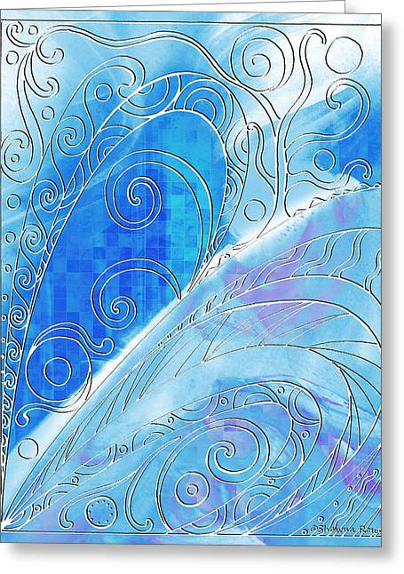 Tendrils Drawings Greeting Cards - Winter Solstice  Greeting Card by Shawna  Rowe
