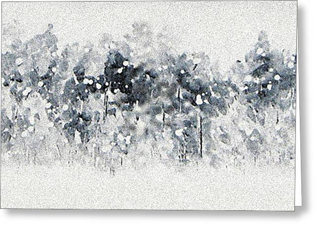 Abstract Expression Greeting Cards - Winter Sonata Greeting Card by Kume Bryant
