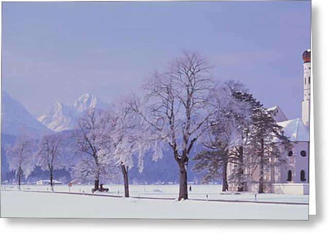 Faint Greeting Cards - Winter St Coloman Church Schwangau Greeting Card by Panoramic Images