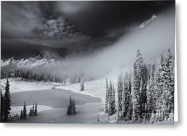 Winter Storm Clears Greeting Card by Mike  Dawson