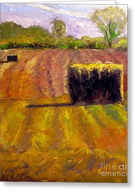 Bales Paintings Greeting Cards - Winter Straw Greeting Card by Charlie Spear