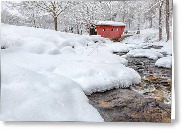 Winter Stream Greeting Card by Bill Wakeley