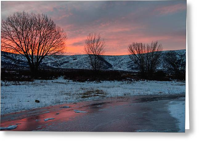 Beautiful Creek Photographs Greeting Cards - Winter Sunrise Greeting Card by Chad Dutson