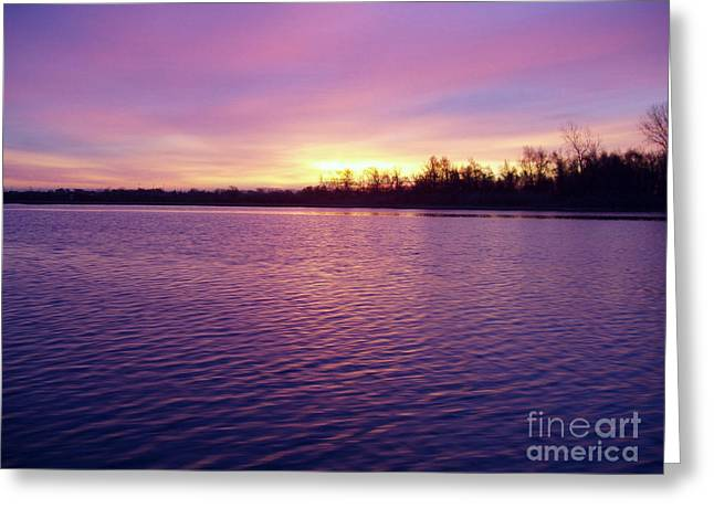 Reflection Of Sun In Clouds Greeting Cards - Winter Sunrise Greeting Card by John Telfer