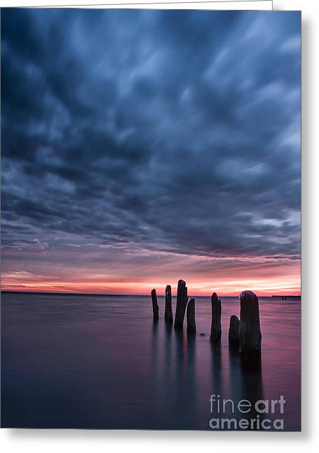Winter Storm Greeting Cards - Winter Sunrise Greeting Card by Matt  Trimble