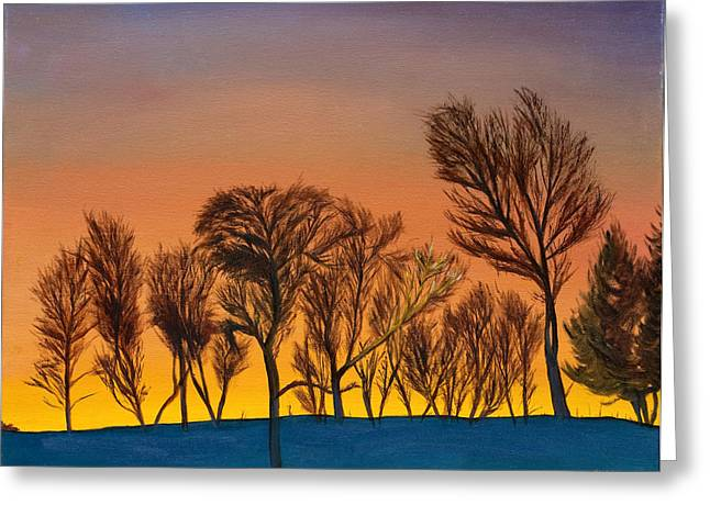 Winter Sunrise Greeting Card by Phillip Compton