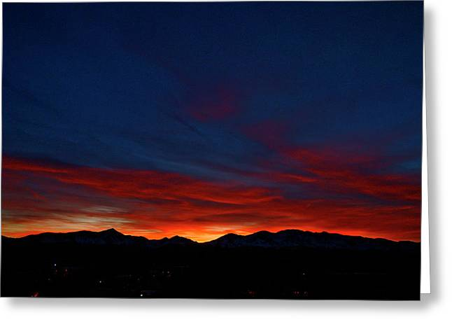 Mt. Massive Greeting Cards - Winter Sunset Greeting Card by Jeremy Rhoades