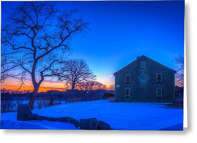 Falmouth Massachusetts Greeting Cards - Winter Sunset Greeting Card by Michael Petrizzo