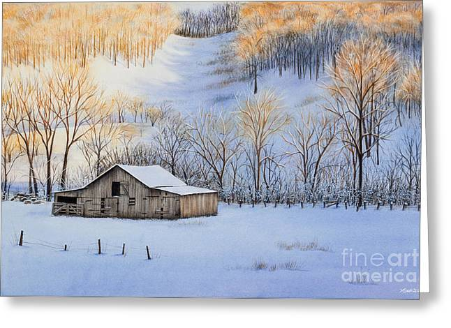 Michelle Greeting Cards - Winter Sunset Greeting Card by Michelle Wiarda