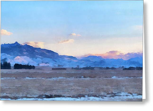 West Fork Digital Greeting Cards - Winter Sunset on South Fork Greeting Card by Janet White