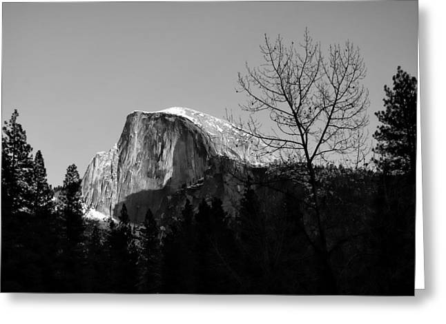 Mariposa County Greeting Cards - Winter sunset over Half Dome Yosemite National Park Greeting Card by Scott McGuire
