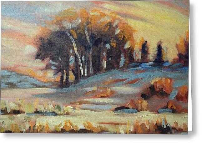 Robert Martin Greeting Cards - Winter Sunset Greeting Card by Robert Martin