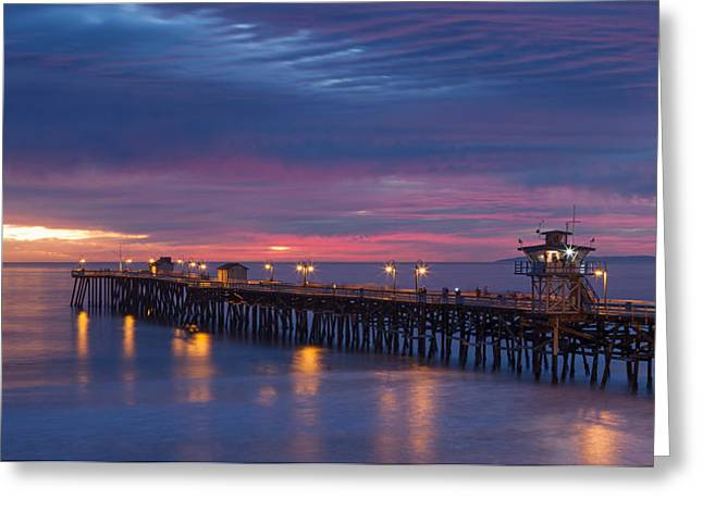 San Clemente California Greeting Cards - Winter Sunset San Clemente Greeting Card by Cliff Wassmann