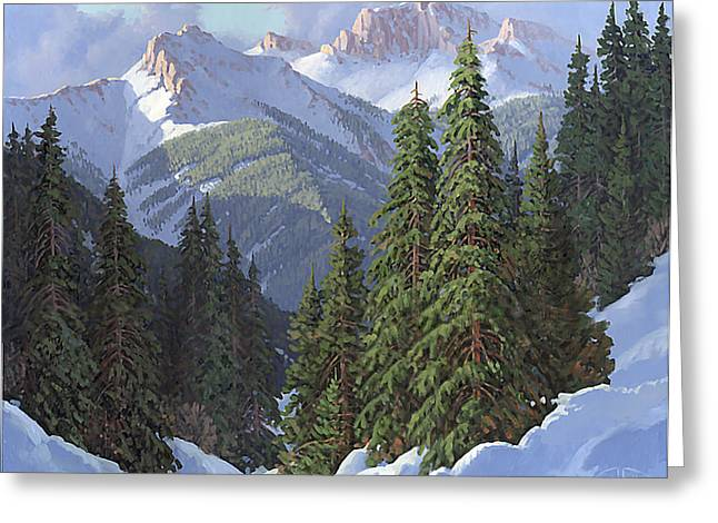 Needle Paintings Greeting Cards - Winter Sunshine Greeting Card by Randy Follis