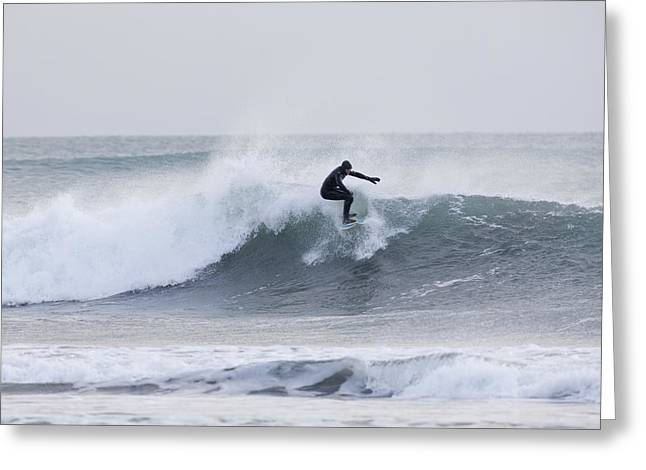 Conditions Greeting Cards - Winter Surfing Greeting Card by Tim Grams