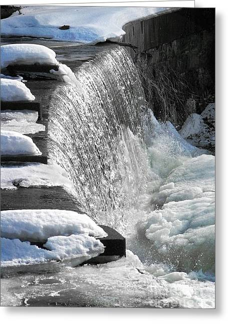 Mid West Landscape Art Greeting Cards - Winter Thaw Greeting Card by Ellen Cotton