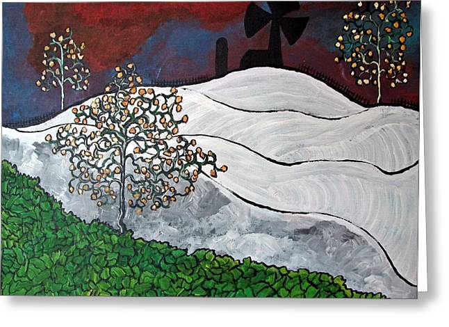 Acylic Painting Greeting Cards - Winter Thaw Greeting Card by Matthew  James