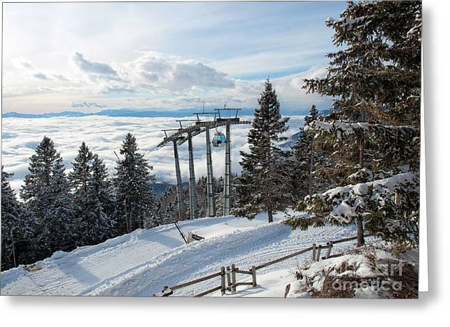 Winter Transportation Greeting Card by Sinisa Botas