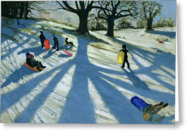 Winter Tree Greeting Card by Andrew Macara