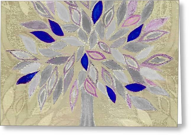 winter tree Greeting Card by Barbara Moignard