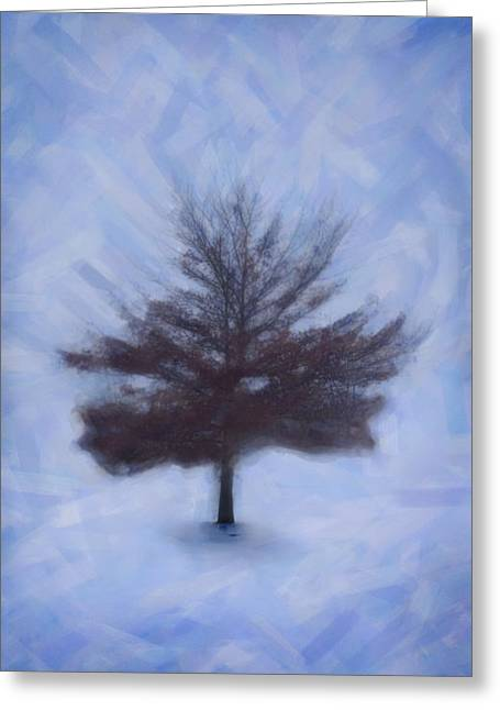 Emmanouil Greeting Cards - Winter Tree Greeting Card by Emmanouil Klimis