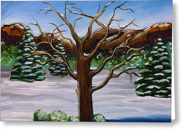 Gayle Utter Greeting Cards - Winter Tree Greeting Card by Gayle Utter