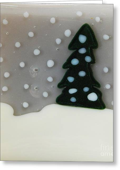 Snow Glass Greeting Cards - Winter Tree Greeting Card by Patricia  Tierney