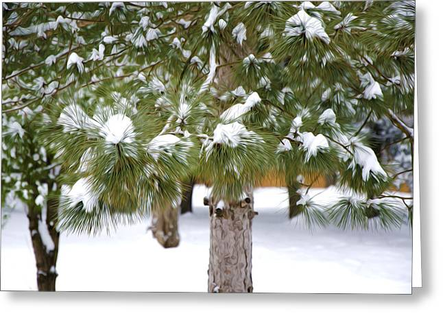 Branch Greeting Cards - Winter trees 1 Greeting Card by Lanjee Chee