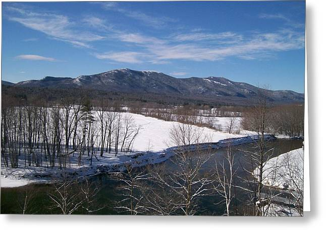 New Hampshire Greeting Cards - Winter Valley Greeting Card by Elizabeth Joslin