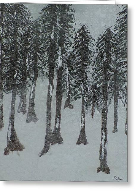 Snow Scence Greeting Cards - Winter Veiw Greeting Card by Dallas Holloman