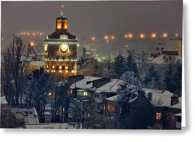 Solitariness Greeting Cards - Winter Vinnitsa 03 Greeting Card by Zoriy Fine
