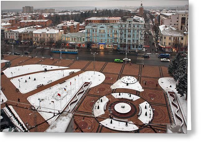 Solitariness Greeting Cards - Winter Vinnitsa 05 Greeting Card by Zoriy Fine
