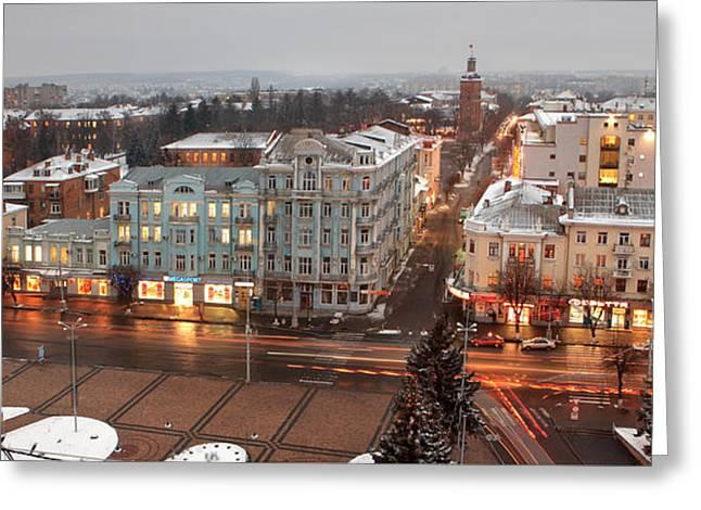 Solitariness Greeting Cards - Winter Vinnitsa 08 Greeting Card by Zoriy Fine
