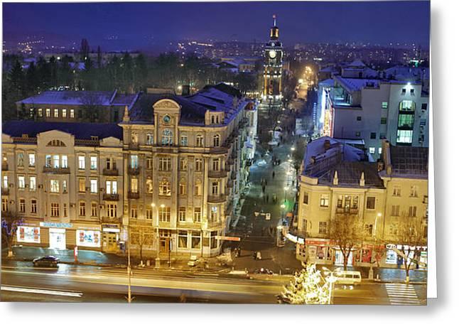 Solitariness Greeting Cards - Winter Vinnitsa 14 Greeting Card by Zoriy Fine