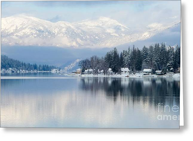 B.c. Greeting Cards - Winter Vista Greeting Card by Nancy Harrison