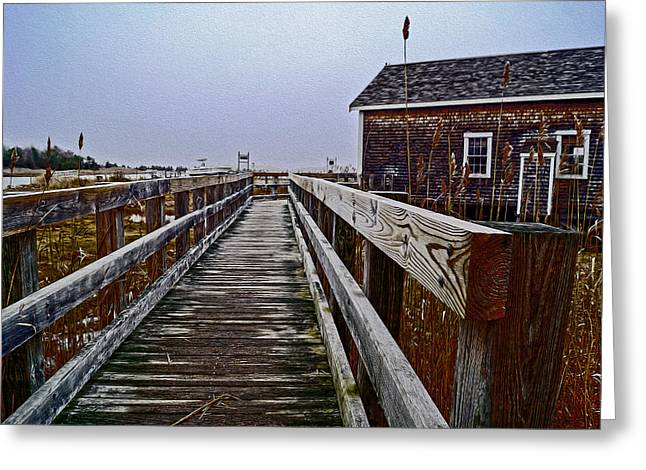 Cohasset Greeting Cards - Winter Walk Greeting Card by Carol Sutherland