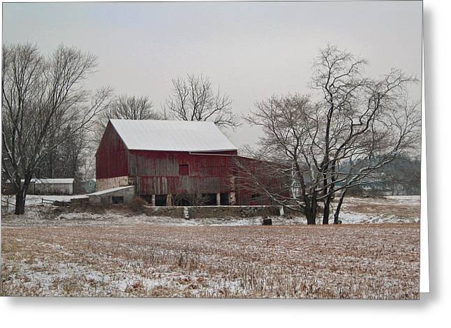 Snowy Day Greeting Cards - Winter Waning Greeting Card by Gordon Beck