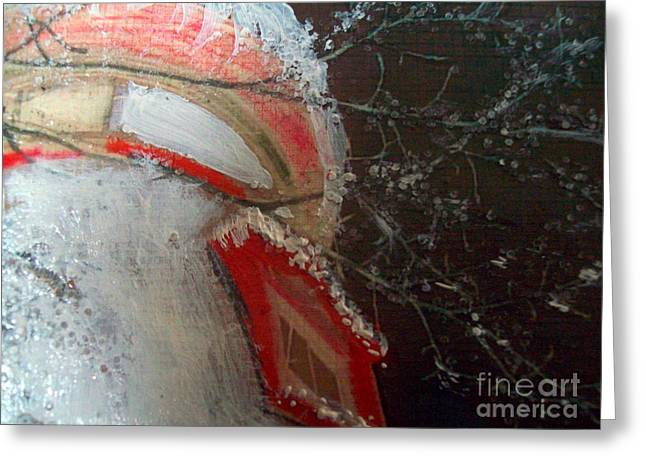 Cheer On Mixed Media Greeting Cards - Winter Warmth III Greeting Card by Jackie Bodnar