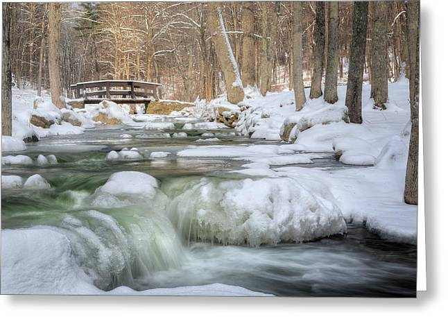 Snow-covered Landscape Photographs Greeting Cards - Winter Water Greeting Card by Bill Wakeley
