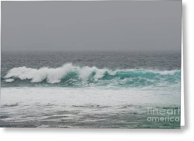 Pacific Grove Greeting Cards - Winter Waves Greeting Card by Artist and Photographer Laura Wrede