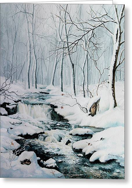 Creek Greeting Cards - Winter Whispers Greeting Card by Hanne Lore Koehler