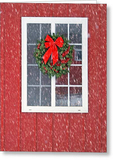 Outbuildings Greeting Cards - Winter Window #1 Greeting Card by Nikolyn McDonald