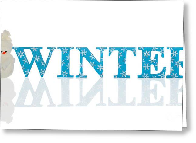 Imprint Greeting Cards - Winter With Snowman Greeting Card by Amanda And Christopher Elwell