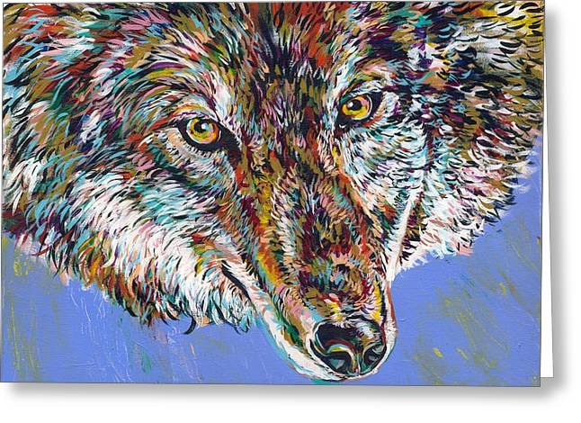 Love The Animal Greeting Cards - Winter Wolf Greeting Card by Lovejoy Creations