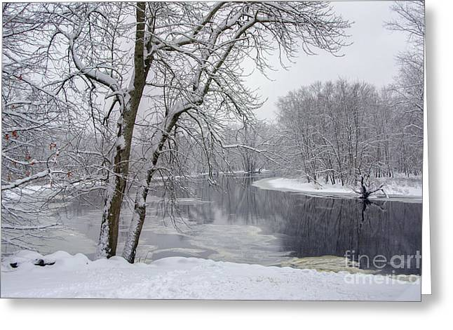 Winter Park Pastels Greeting Cards - Winter Wonderland - Minute Man National Historical Park Greeting Card by Melanie McKennon