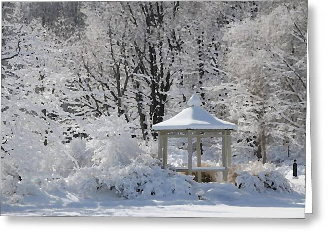 Winter Storm Greeting Cards - Winter Wonderland 10 Greeting Card by Allen Beatty